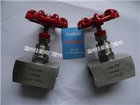 精品打造304,316不銹鋼J13W-64P,PN64,G1/2內螺紋4分絲牙針型壓力儀表截止閥,氣源開關閥門 J13W-64P,G1/2