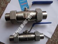 精品Q21F-16P DN25 DN32 304SS不銹鋼廣式外螺紋帶活接頭對焊式/焊接式球閥 Q21F-16P Q21F-25P