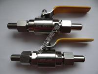 Q21F-16P Q21F-25P Q21F-32P Q21F-40P Q21F-64P帶活接頭對焊式外螺紋氣源球閥 Q21F-64P DN10 BW¢14 304SS