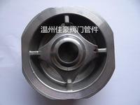 H71W-40P 304SS不銹鋼四角 圓角對夾式單向止回閥 H72W-40P