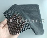 廠家黑色網孔硅膠防靜電防滑墊 RST耐高溫止滑墊180度