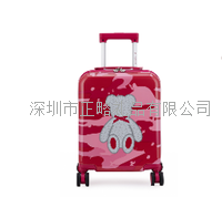 外交官精典泰迪粉色迷彩拉杆箱