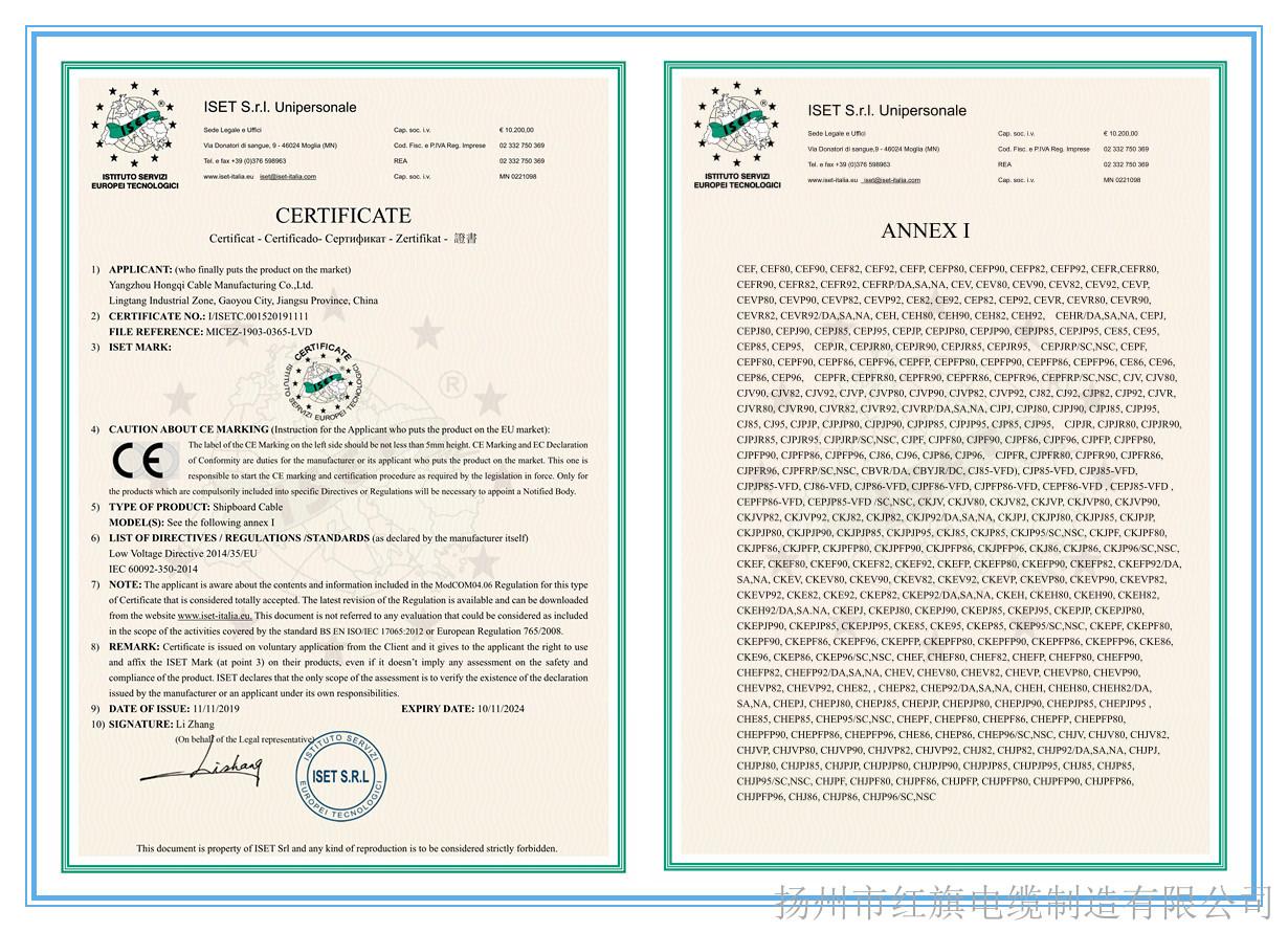 CE船用产品证书