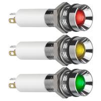 法国APEM开关IP67防水三色信号指示灯 Q8R1CZZRYG24