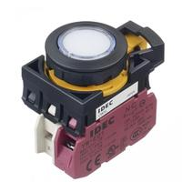 Idec和泉白色电气带灯平形按钮开关? CW1L-M1E01Q4PW