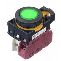 Idec和泉平头超薄带灯按钮开关CW1L-M1E01Q CW1L-M1E01Q4G