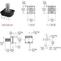 NKK进口8421编码器FR01-KR16旋转编码开关FR01KR16P